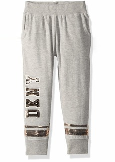 DKNY Girls' Big Sequin Sweatpant