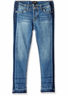 DKNY Girls' Big Tack and Tear Skinny Jean