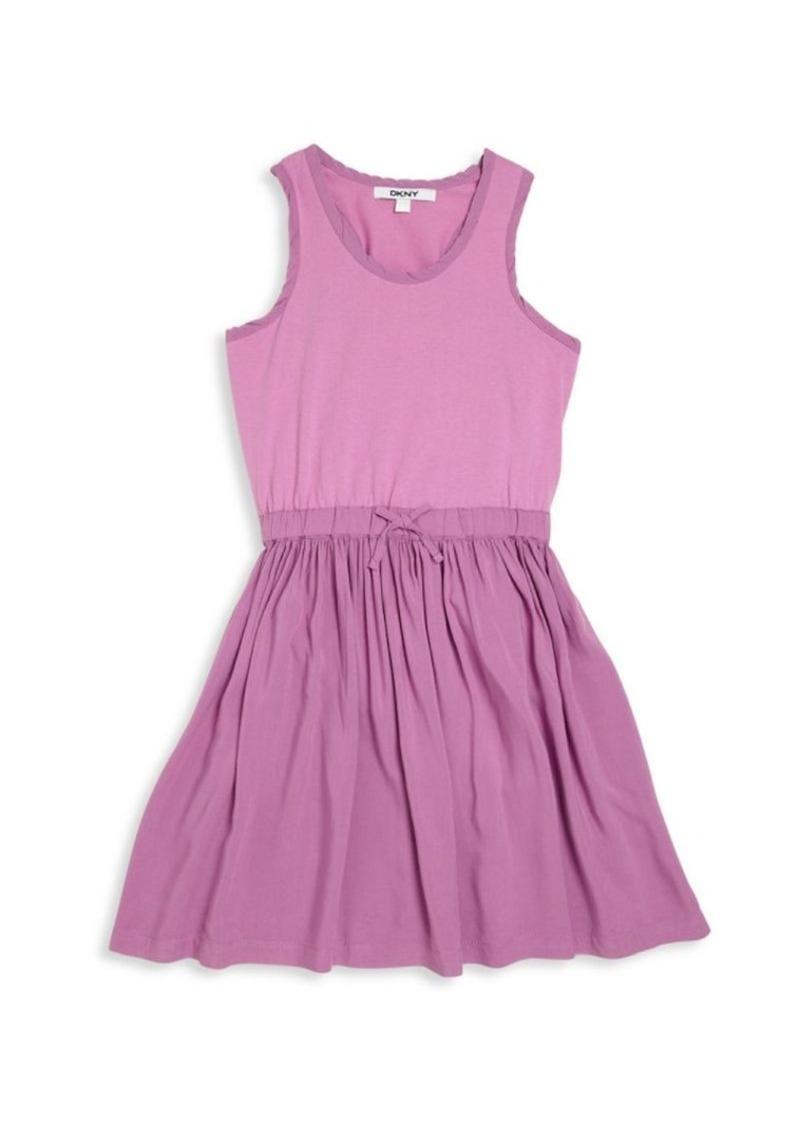 DKNY Girl's Fit-&-Flare Dress