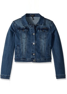 DKNY Girls' Little Casual Jacket Denim True Medium wash