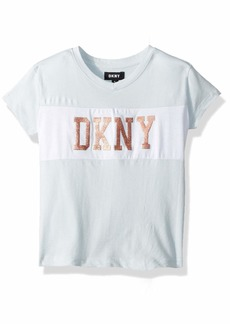 DKNY Girls' Little Embellished Knot Tee