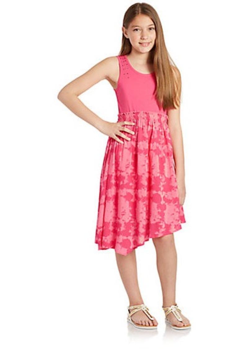 DKNY Girl's Tie-Dyed Dress