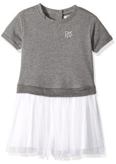 DKNY Girls' Toddler Casual Dress (More Styles Available) 1109DG Heather Grey