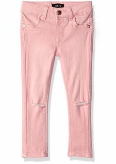 DKNY Girls' Toddler Jamie Knee Slit Jegging