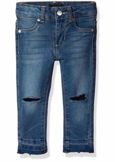 DKNY Girls' Toddler Knee Slit Ankle Jegging indy Blue