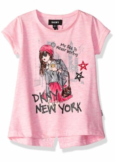 DKNY Girls' Toddler Never Boring Top