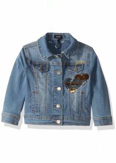 DKNY Girls' Toddler Sequin Denim Jacket