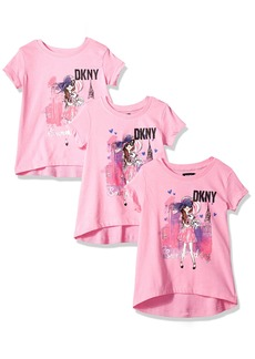 DKNY Girls' Toddler Short Sleeve T-Shirt