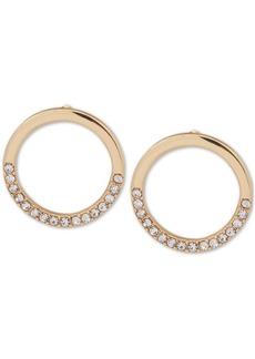 Dkny Gold-Tone Crystal Circle Stud Earrings