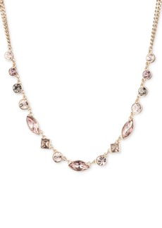 """Dkny Gold-Tone Crystal Collar Necklace, 16"""" + 3"""" extender, Created for Macy's"""