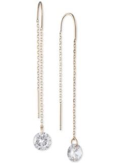 Dkny Gold-Tone Crystal Threader Earrings
