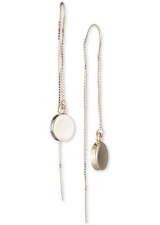 Dkny Gold-Tone Disc Threader Earrings, Created for Macy's
