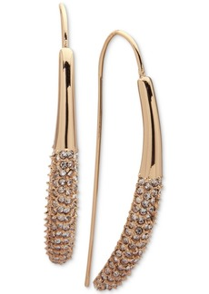 Dkny Gold-Tone Pave Threader Earrings