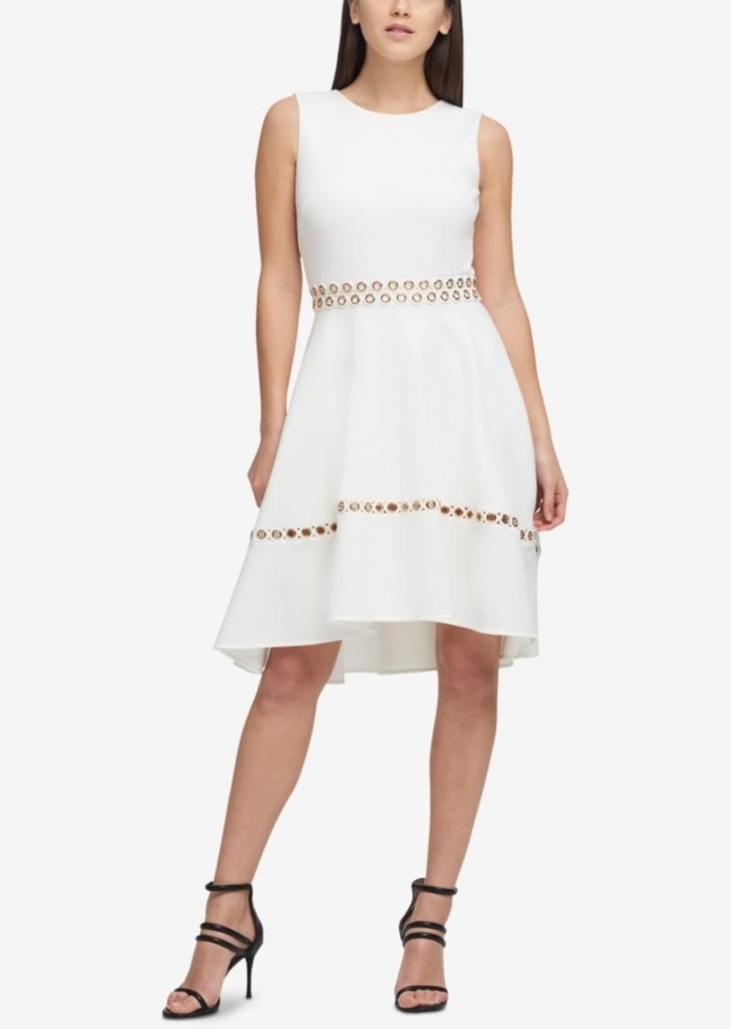 621491d78e DKNY Dkny Grommet Scuba Fit   Flare Dress
