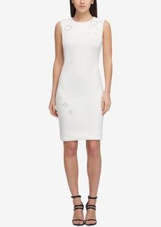 Dkny Grommet Scuba Sheath Dress, Created for Macy's