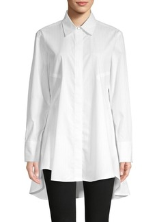 DKNY Donna Karan High-Low Cotton-Blend Tunic