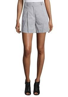 DKNY High-Rise Linen-Blend Shorts