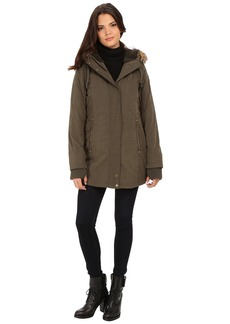 DKNY Hooded Faux Fur Hi-Lo Fitted Parka 82503-Y5