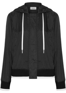 DKNY Hooded shell bomber jacket