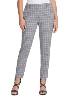 Dkny Houndstooth Plaid Essex Ankle Pant