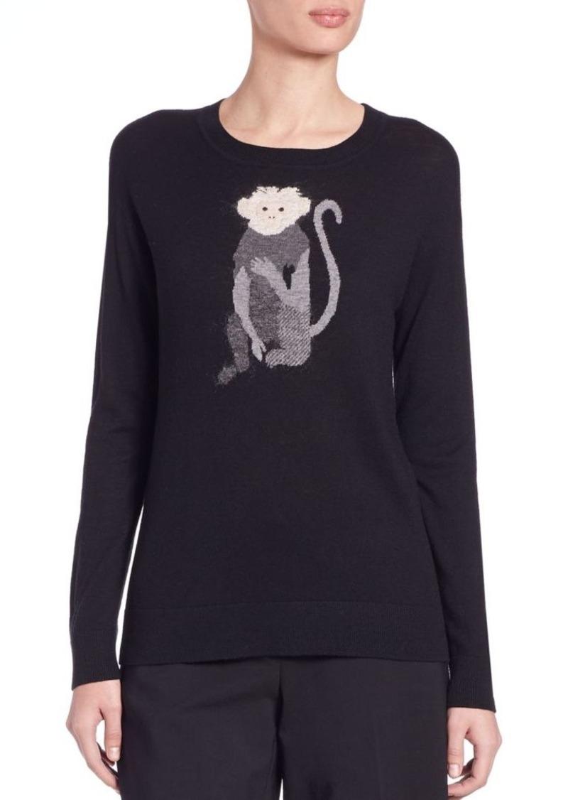 DKNY Intarsia-Knit Monkey Sweater