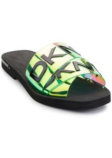 Dkny Isha Logo Flat Slide Sandals