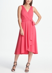 Dkny Jersey Faux Wrap Handkerchief Dress