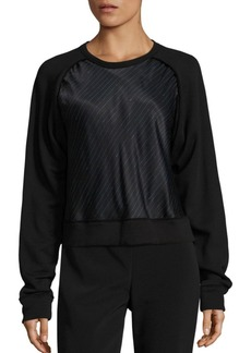DKNY Donna Karan New York Knitted Overlay Pullover
