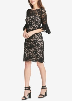 Dkny Lace Bell-Sleeve Sheath Dress, Created for Macy's