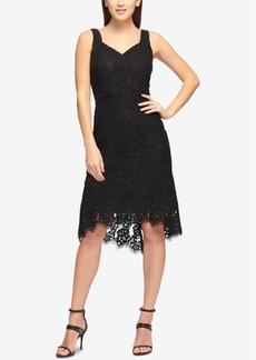 Dkny Lace Flounce-Hem Sheath Dress, Created for Macy's