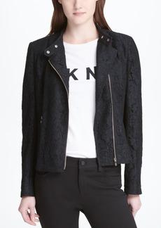 Dkny Lace Moto Jacket