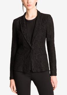 Dkny Lace Single-Button Blazer