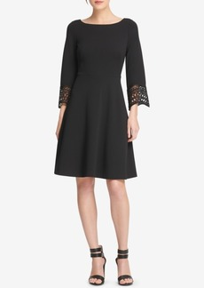 Dkny Lace-Trim Fit & Flare Dress, Created for Macy's