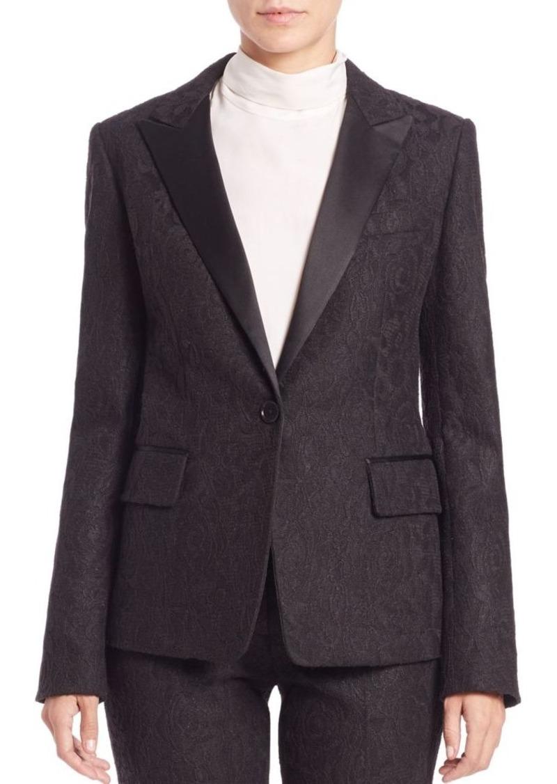 DKNY Lace Tuxedo Jacket