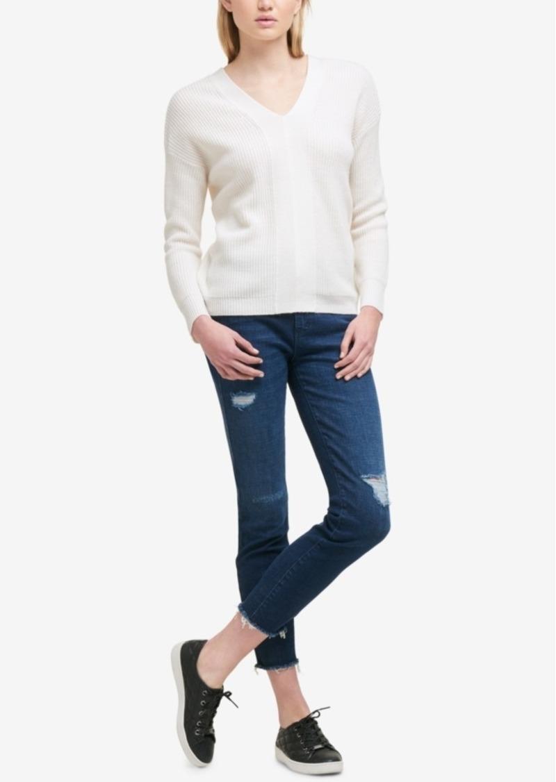 d3a4296098 DKNY Dkny Lace-Up Sweater