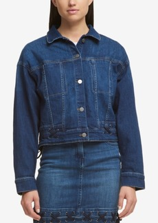 Dkny Laced Denim Jacket, Created for Macy's