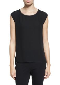 DKNY Leona Sleeveless Silk Blouse