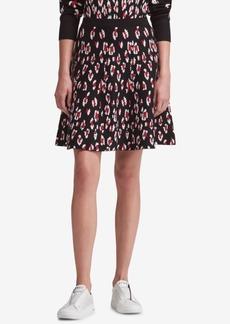 Dkny Leopard-Print A-Line Skirt, Created for Macy's