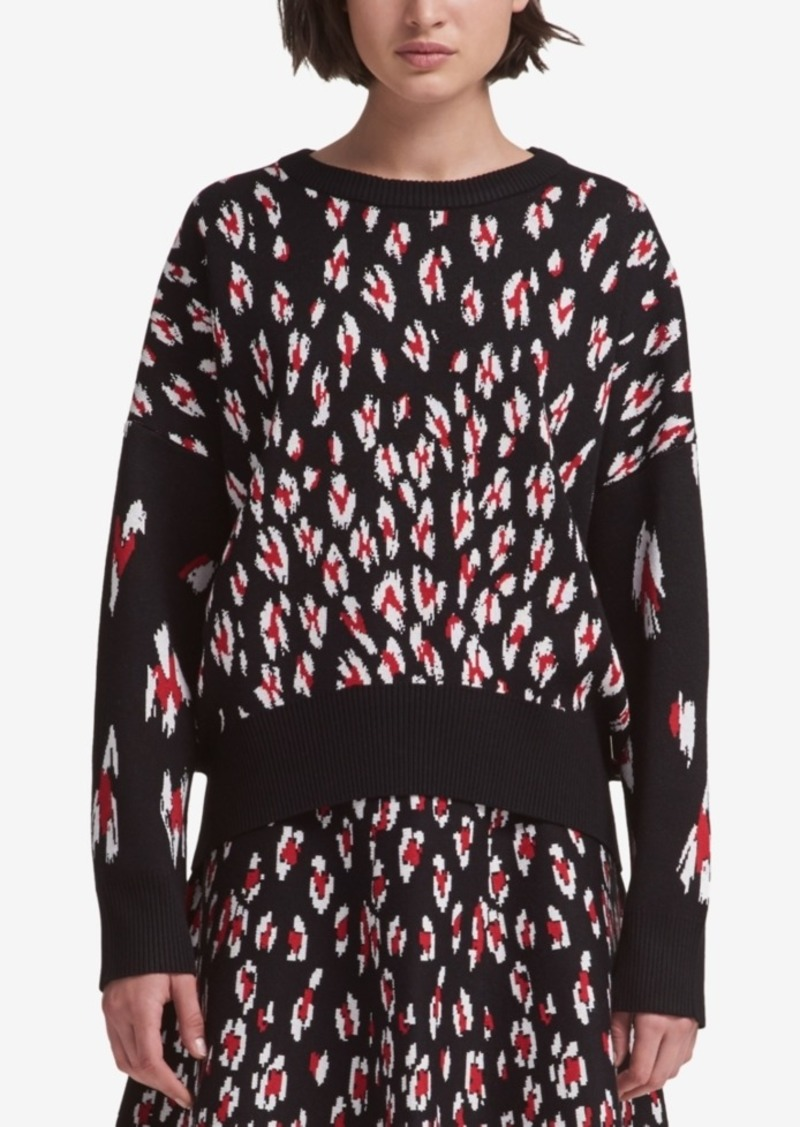 8a9f25092109 DKNY Dkny Leopard-Print Sweater, Created for Macy's | Sweaters