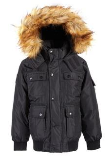 Dkny Little Boys Bomber Parka Jacket with Faux-Fur Trim