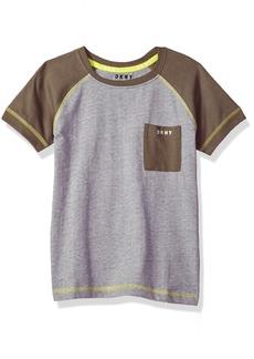 DKNY Little Boys' Short Sleeve T-Shirt White-Kbxpk