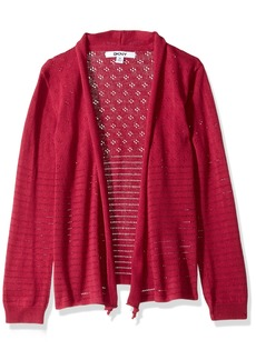 DKNY Girls' Little Sweater (More Styles Available) 1155DG Sangria 6X