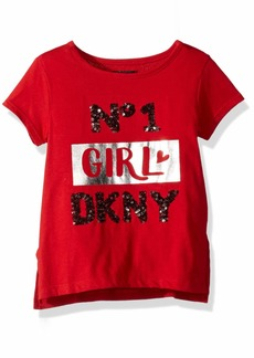 DKNY Little Number 1 Girl Top red napa