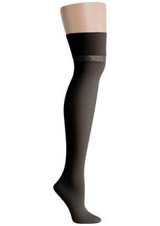 Dkny Logo Knit Over-The-Knee Socks