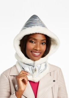 Dkny Logo Puffer Hood With Faux-Fur Trim