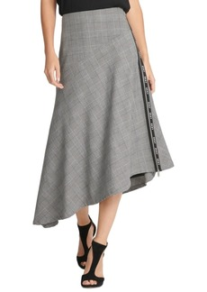 Dkny Logo-Trim Asymmetrical Skirt