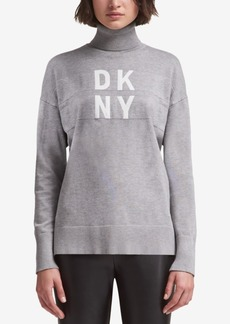 Dkny Logo Turtleneck Sweater, Created for Macy's