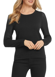 DKNY Long-Sleeve Crewneck Sweater