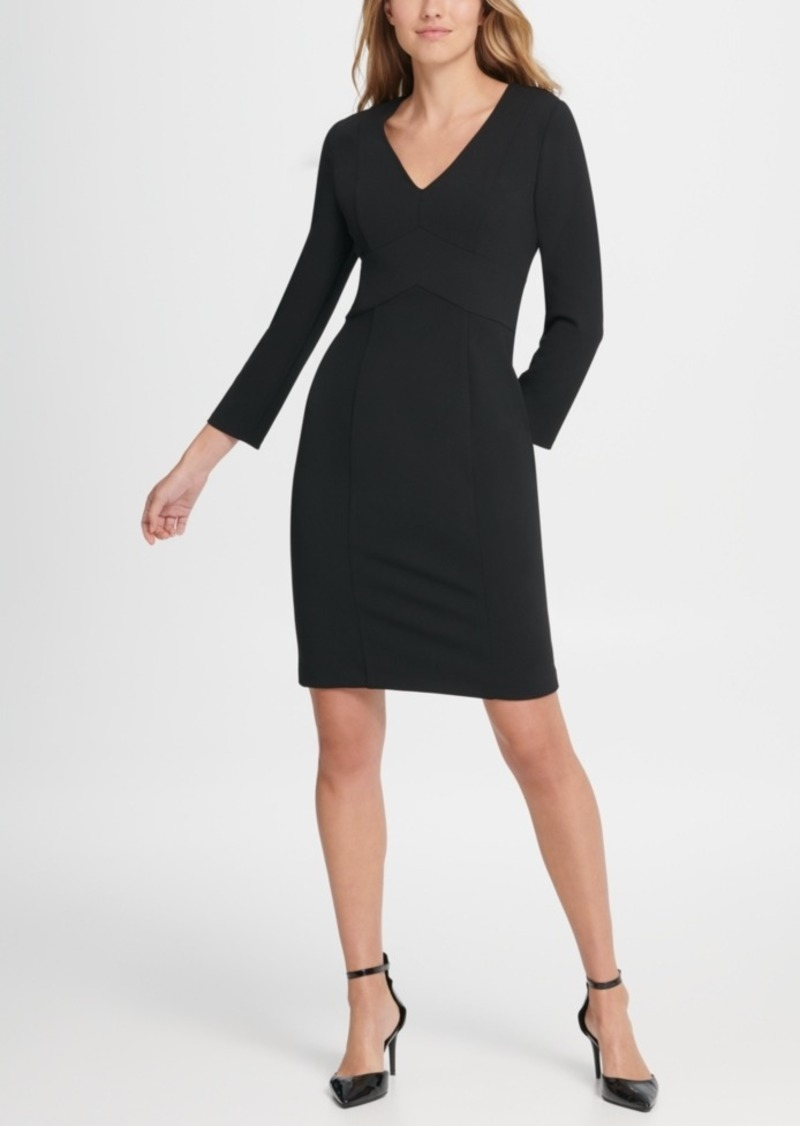 Dkny Long Sleeve Empire Waist Sheath Dress