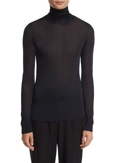 DKNY Long-Sleeve Jersey Turtleneck Top